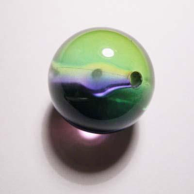 acryl rond lila blauw groen 24 mm