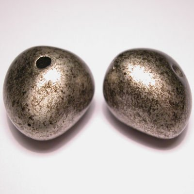 fantasievorm zilver gemeleerd 17x23 mm