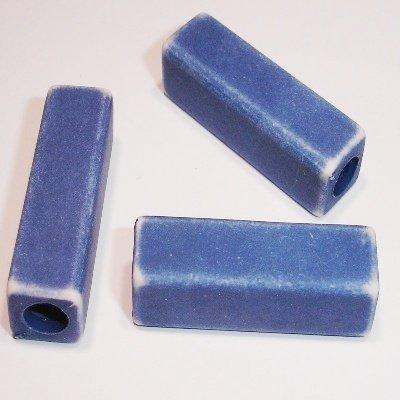 ethnic bead blauw 17x9 mm