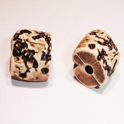 ethnic bead bruin 9x15 mm