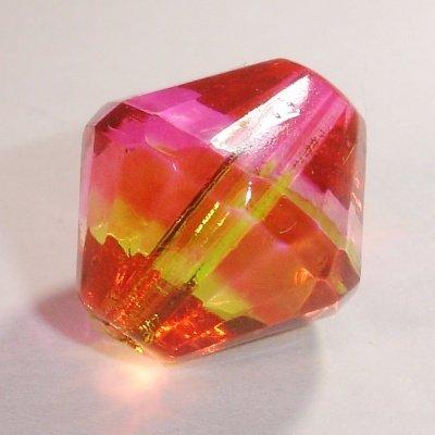 facet konisch pink/geel 14 mm