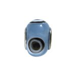 pandorastyle glas rondel 13 mm blauw oog