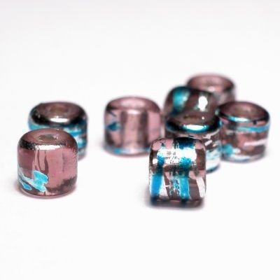 cilinder met streep rose 4x4 mm