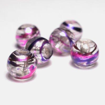 rond met streep lila 6 mm