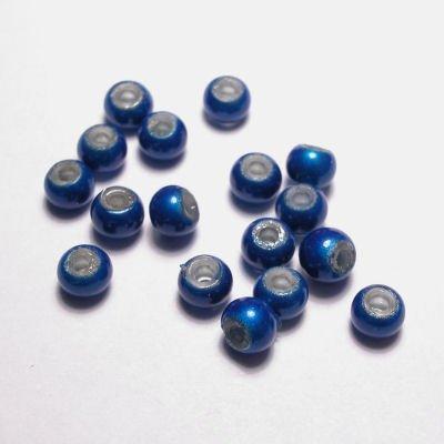 miracle bead blauw 4 mm
