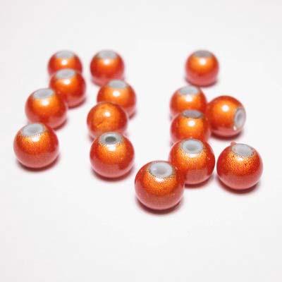 miracle bead oranje 6 mm