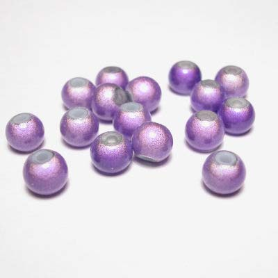 miracle bead lilapaars 6 mm