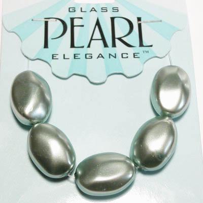 glasparels ovaal 14x20 mm sage