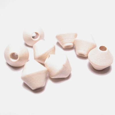 kraal konisch gebr. wit 8 mm