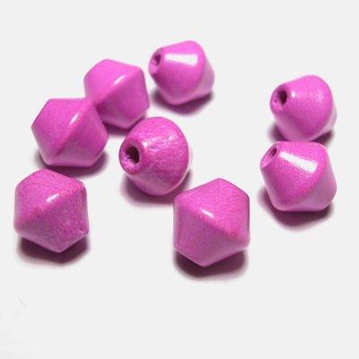 kraal konisch donker roze 8 mm