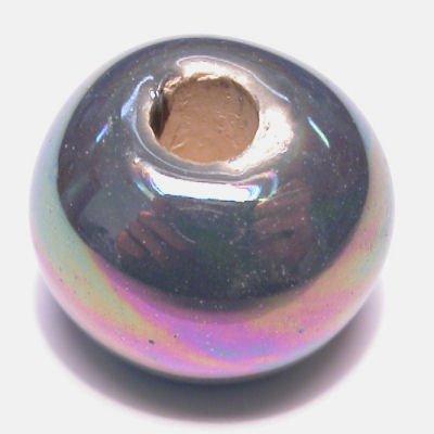 keramiek parelmoer blauwgroen 14x17 mm