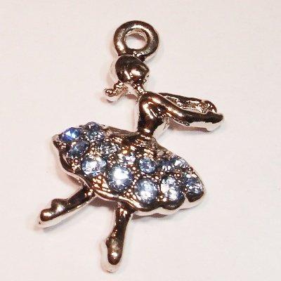 emaille hanger ballerina l.blauw 30 mm