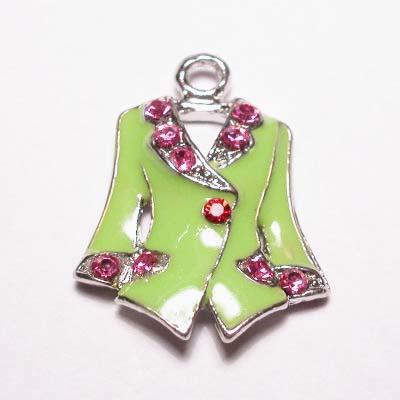 emaille hanger jasje l.groen 25mm