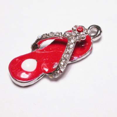 emaille hanger slipper rood 20mm