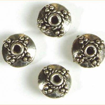 sierkraal verzilverd rond plat touw 12 mm