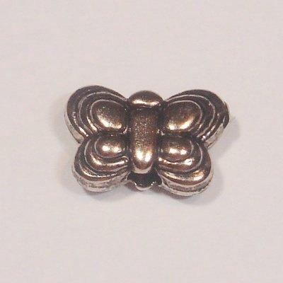 metal plated vlinder 8x5 mm