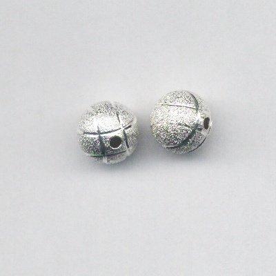 metalen kraal stardust met streep 12 mm