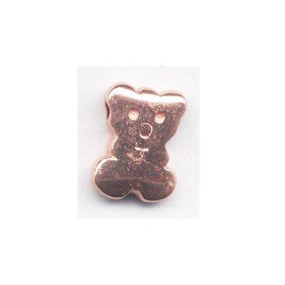 metalen kraal beer 21x15 mm