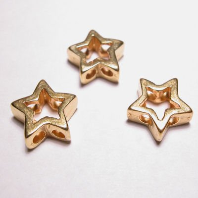 kraal 2-oog ster mat goud 13 mm