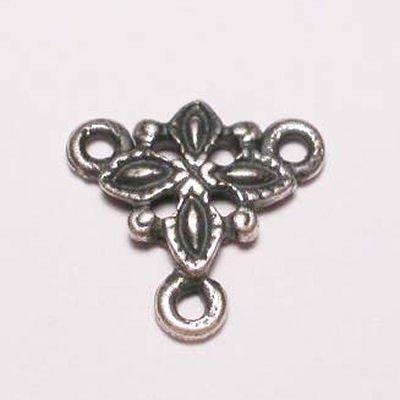 bloem 3-oog oud zilver 10 mm