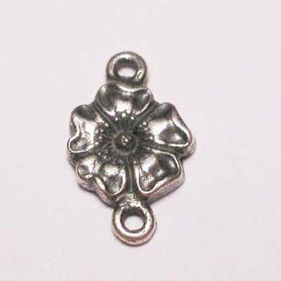 bloem 2-oog oud zilver 11 mm