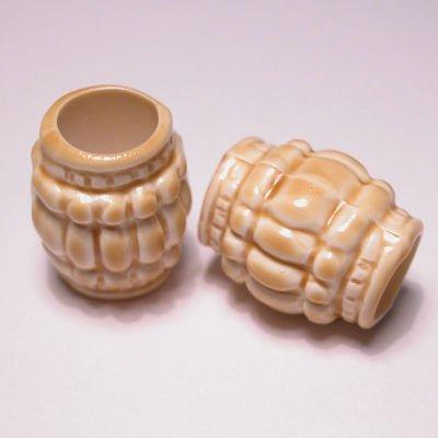cilinder bewerkt ecru 14x18 mm