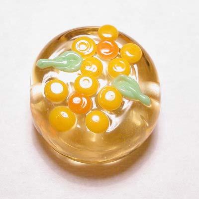 design kraal bloem plat rond geel 13 mm