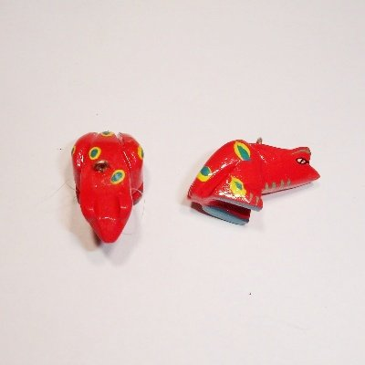 bedel kikker rood ca. 25x10 mm