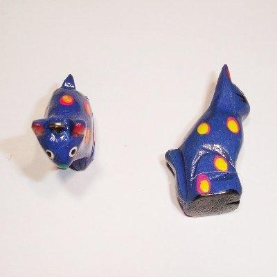 bedel kat blauw ca. 24x20 mm