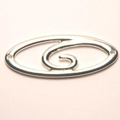 tussenzetsel ovaal spiraal silverplated