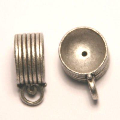 tussenzetsel voor kralen 16mm antiek zilver
