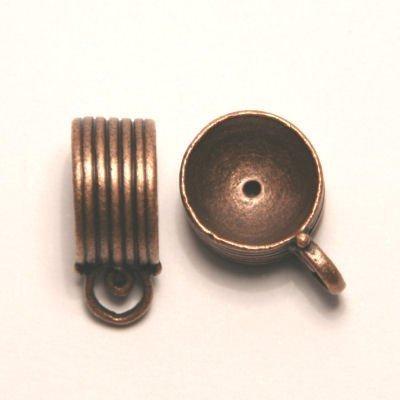 tussenzetsel voor kralen 16mm antiek koper