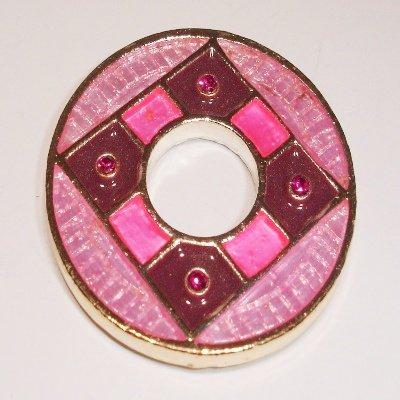 ring rose met strass 34 mm