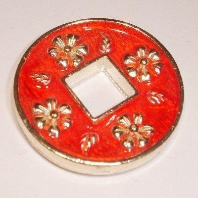 ring bloem rood 30 mm