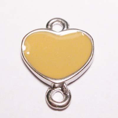 hart 2-oog emaille geel 16x22 mm
