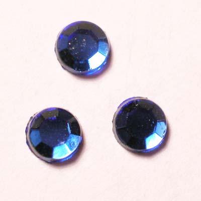strass plaksteen kristal sapphir 4 mm