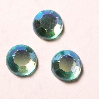 strass plaksteen kristal aqua AB 5 mm