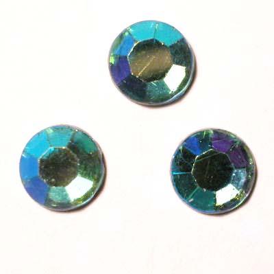strass plaksteen kristal aqua AB 7 mm
