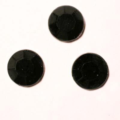 strass plaksteen kristal zwart 7 mm