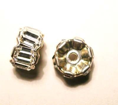 strass rondel zilver 10 mm