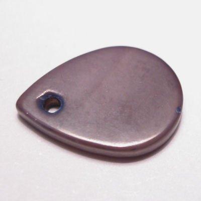 parelmoer hanger druppel paars 13 mm