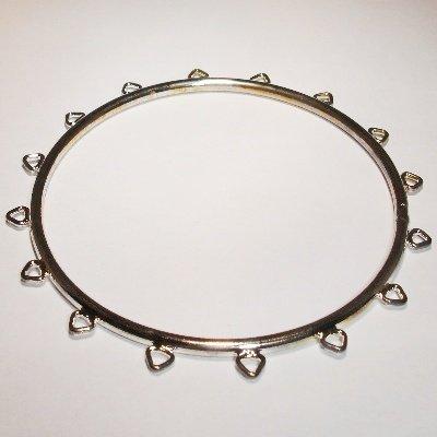 armband met 16 lussen zilver doorsnede 7 cm