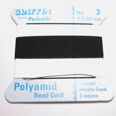 kralenrijgdraad nylon zwart 0,5 mm