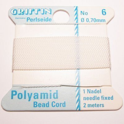 kralenrijgdraad nylon wit 0,7 mm