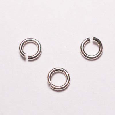ring rond zilver 4 mm, 0,8 mm dik