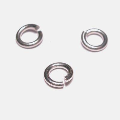 ring rond zilver 5 mm, 0,8 mm dik