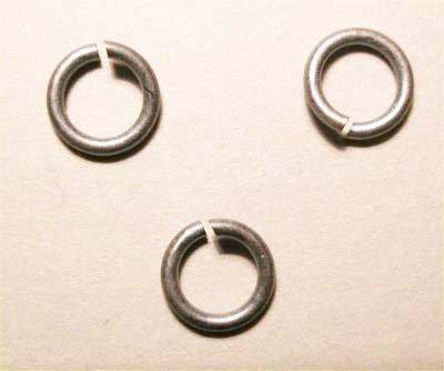 ring rond oudzilver 6 mm, 1 mm dik