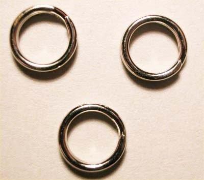 splijtring zilver 7 mm