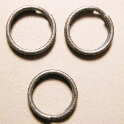 splijtring oud zilver 9 mm