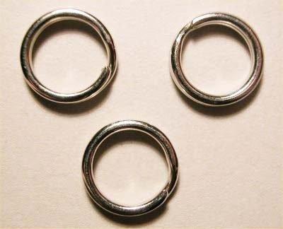 splijtring zilver 9 mm